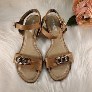 PICADILLY CLOUD9 TAN SANDALS SIZE 8